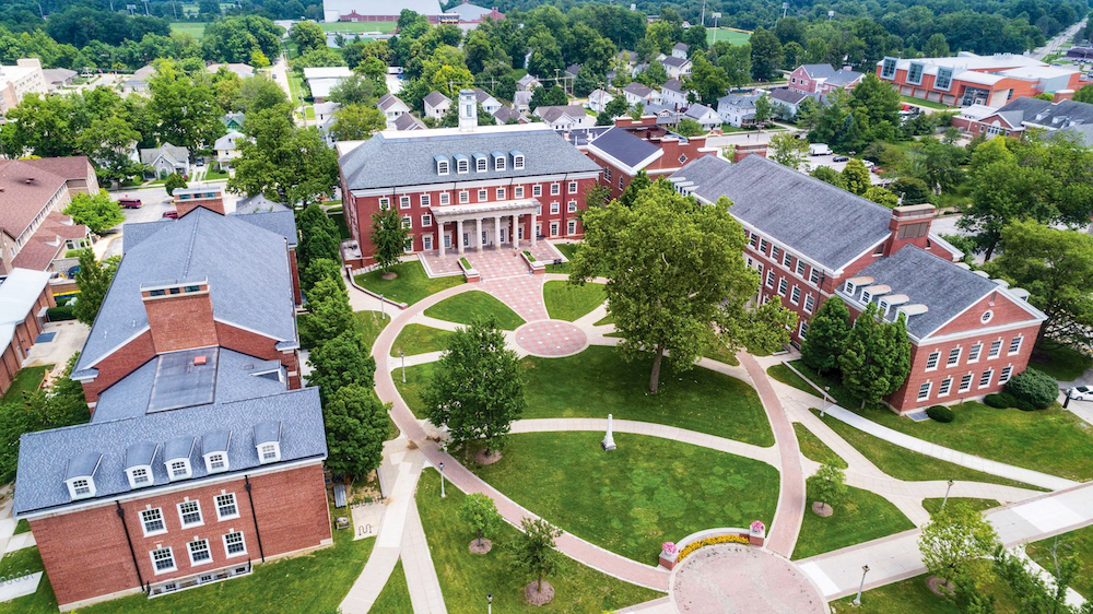 Aerial view of the Holton Quadrangle